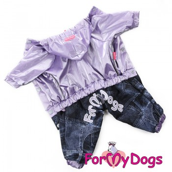 Дождевик фиолетовый для девочек. Джинсы. Размер 20