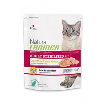 Trainer Сухой корм Natural Adult Sterilised для взрослых кастрированных кошек со свежим белым мясом 1,5кг