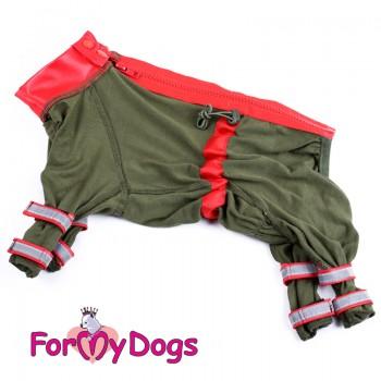 Пыльник для собак, хаки для мальчиков. Размер 8