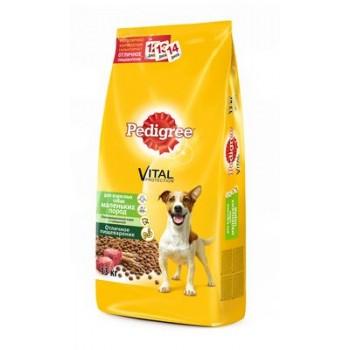 Педигри сухой корм для взрослых собак мелких пород Говядина 13кг.