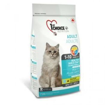 1ST CHOICE сухой корм для кошек Здоровая кожа и Шерсть Лосось 5,44кг
