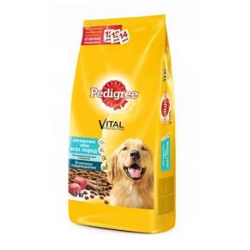 Педигри сухой корм для взрослых собак всех пород Говядина 13кг.