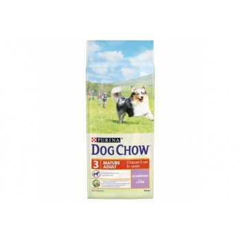Сухой корм Purina Dog Chow Mature Adult для собак старше 5 лет, ягнёнок, пакет, 14 кг