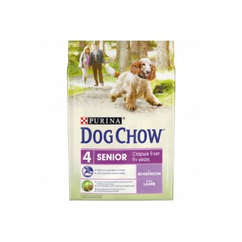 Сухой корм Purina Dog Chow Senior для собак старше 9 лет, ягнёнок, пакет, 2,5 кг
