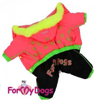 """Комбинезон  для собак, """"Снежинки""""розовый для девочек.  Размер 8"""