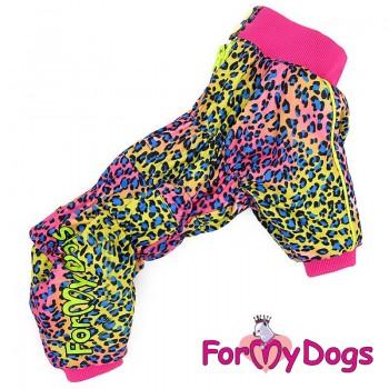 Комбинезон для собак, на флисе розовый для девочек. Размер 8